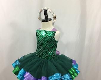 Mermaid Birthday * Mermaid Inspired*  Tutu Set * Tutu Outfit * Tutu Skirt * 1st Birthday Tutu * Custom Tutu * Girls Tutu Skirt