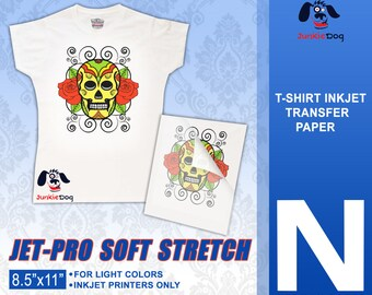 10 Sheets - Neenah Jet Pro SofStretch Inkjet Heat Transfer Paper - Iron On Transfer Paper 8.5 X 11""