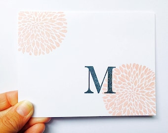 Everyday Stationery. Snail Mail Note. Moms Birthday Gift. Grandmother Letter. Personalized Initial Notecards. Mom Stationery. Grandma Note