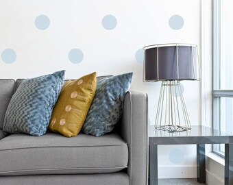 Baby Blue Polka Dot Wall Decals
