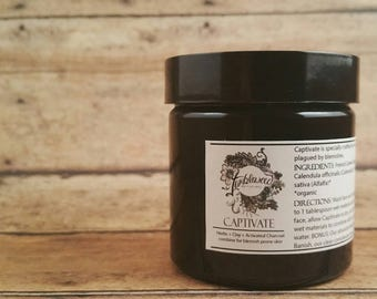 Face Mask : Activated Charcoal • Botanicals • Clay • Organic