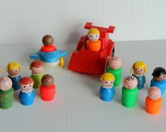 Fisher Price Little People, Plane and Car