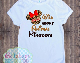 Wild about Animal Kingdom - Cheetah Minnie Disney Bodysuit or Tshirt - Personalized shirt