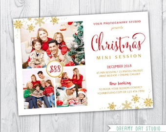 gold christmas mini session template / christmas mini template / christmas mini session template / christmas mini session / christmas mini