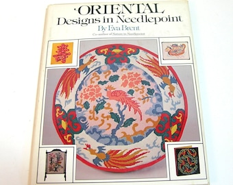 Oriental Designs in Needlepoint by Eva Brent, Vintage Book