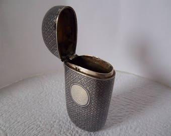 A 19th Century Niello Silver Vesta Case