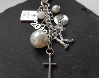 First Communion gift - Confirmation bag charm - confirmation gift - church gift - Baptism gift - religious gift - Christian gift