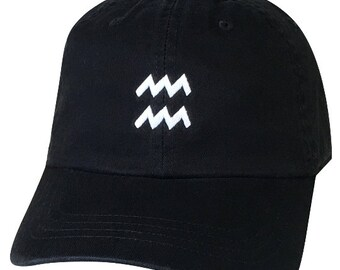 AQUARIUS Dad Hat | Horoscope |Zodiac Sign Hat |Eleventh Sign | Aquarius The Water Bearer |January 20th-February 18th|Constellation |Dad Caps