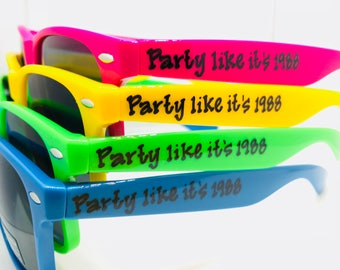 Dirty 30/30th Birthday/29th Anniversary Party Accesories/Sunglasses