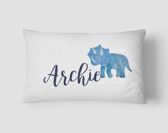 Personalised Name cushion Dinosaur