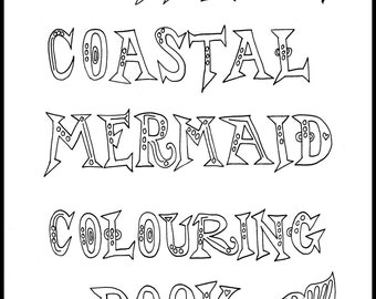 Coastal Mermaid Adult Coloring Book, Colouring Book, Mermaid Coloring, Adult Coloring, Coloring for Adults, Mermaids to Color