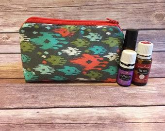 essential oil bag, oil bag, essential oil case, essential oil storage, oil holder, travel bag, zipper bag, oil accessories, gift