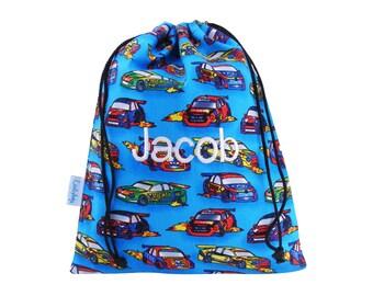 Personalised Wash Bag, Toiletry Bag, Kids - Cars