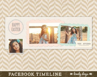 Easter Facebook Timeline Template for Photographers INSTANT DOWNLOAD