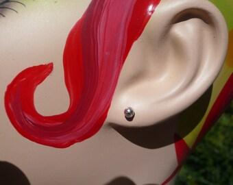 Sterling Ball Post Earrings