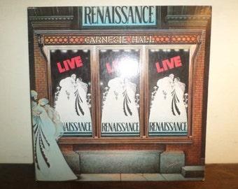 Vintage 1976 Vinyl LP Record Renaissance Live at Carnegie Hall Excellent Condition 9988