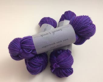 Sock Yarn Mini Skein - Tonal Purple