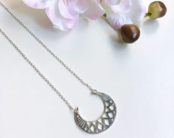 Pendant Moon in Sterling silver