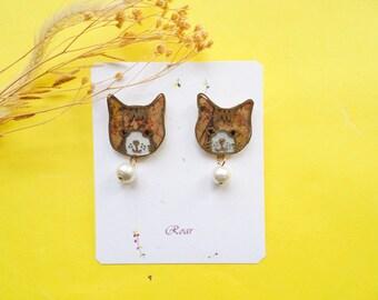 Cats Shrink Plastic Earrings