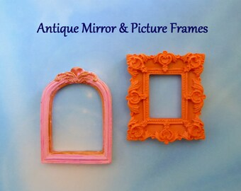 Picture Frame Silicone Mold Fondant Chocolate Candy DIY Cake Topper Sugar Decoration Polymer Clay Craft Embellishment Photo Frame