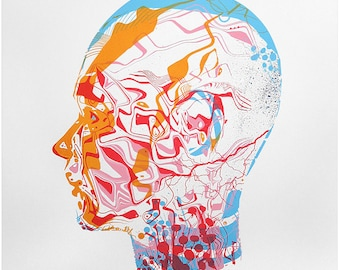 Vaporware - screen print limited edition holographic metalic foil