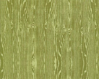 Joel Dewberry Fabric, Woodgrain, JD42 Dill, Free Spirit, 100% Cotton, #FS05