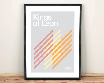 Kings of Leon Remixed Gig Poster, Art Print, Music Poster
