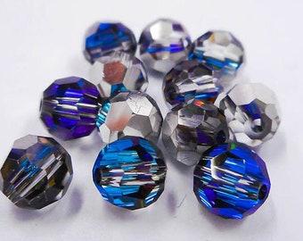Crystal Bermuda Blue 5000 - 4mm, 6mm, 8mm - Swarovski Elements Crystal Round Bead (12-72 pcs)