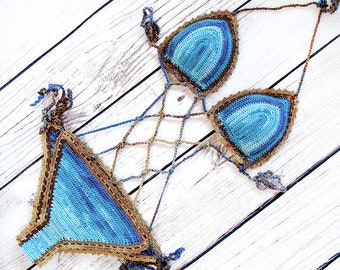 Crochet bikini set , Crochet monokini, Gift for her, Crochet swimsuit, Triangle bikini, Crochet top, Crochet bottom, Brazilian bikini