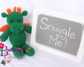 Dragon Stuffed Animal Green Dragon Amigurumi Stuffed Animal Cute Dragon Cute Green Dragon Baby Dragon Baby Green Dragon Stuffed Animal