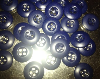 50 Dark blue buttons/ dark navy blue