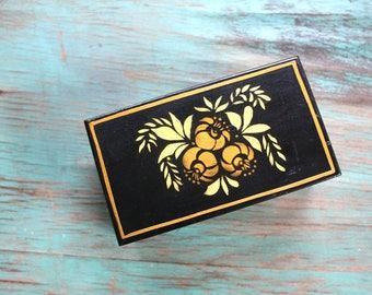 Handpainted Trinket Box, Wooden Jewelry Box, Hand Painted Wooden Jewelry Box, Vintage Trinket Box, Vintage Jewelry Box
