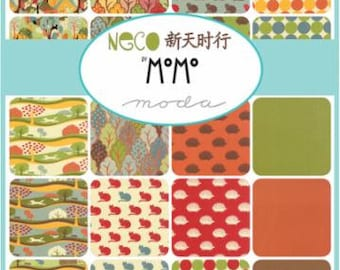 """Neco MoMo  Charm Pack 5"""" x 5"""" Squares  from Moda 42 Squares in Pack"""