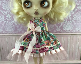 Blythe Dress - Red and Apricot Liberty