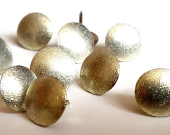 Gold Shimmer Thumbtacks, Push Pins Set. Perfect for Bulleting Boards, Office Gifts, Office Decor.