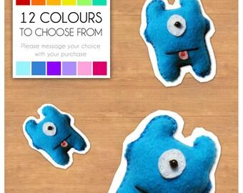 """Mini Felt Monster Plush Toy by BABUA - """"Josh"""" - 12 Colors"""