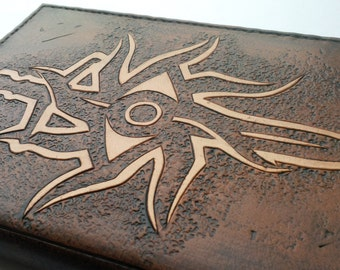 Handmade carved leather Dragon Age Inquisition A6 Notebook cover