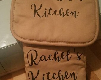 Personalized Pot Holders Set