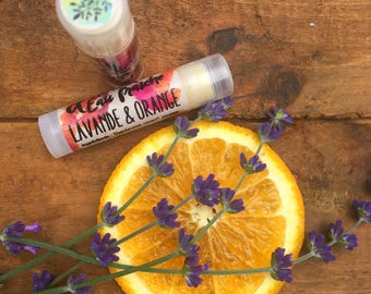 Orange & Lavender lip balm