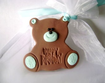 Baby Shower Favor Tag. Bear Baby Shower Tag. Birthday Tag. Made to Order