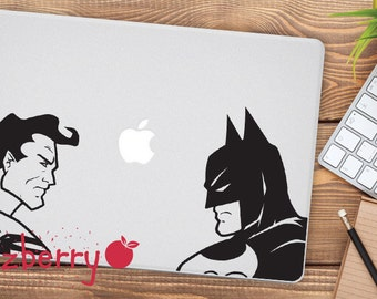 Batman Vs Superman Macbook Decal Batman Macbook Decal Superman Macbook Sticker Marvel Sticker DC Macbook Decal Sticker Superhero Decal
