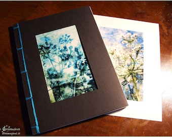 TURQUOISE JOURNAL with double cover illustrations