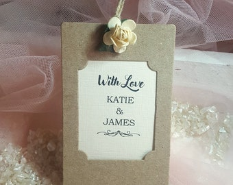 Wedding Favour Tags with Little Rose