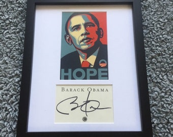 President Barack Obama : Signed Autographed HOPE Framed