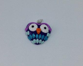 Purple Owl Charm