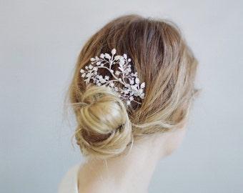 Peigne à cheveux mariée - feuille chatoyante et peigne à cheveux branche - Style 774 - réalisé sur commande