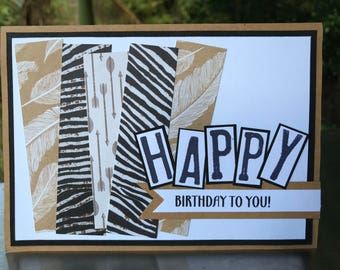 Happy Birthday Feather Card