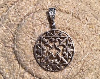 Sterling Silver Pendant-Pendant-Handmade Vintage Pendant-Ethnic-Hippy- vintage Shop.....