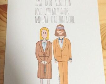 Margot and Richie Tenenbaum from The Royal Tenenbaums digital art print / digital print.