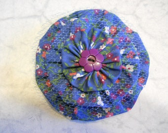 Fabric Flower Pin, Fabric  Brooch, Flower Hair Clip, Purse Decoration, Curtain Decor, Fabric Flower Gift, Birthday Gift, Mothers Day Gift